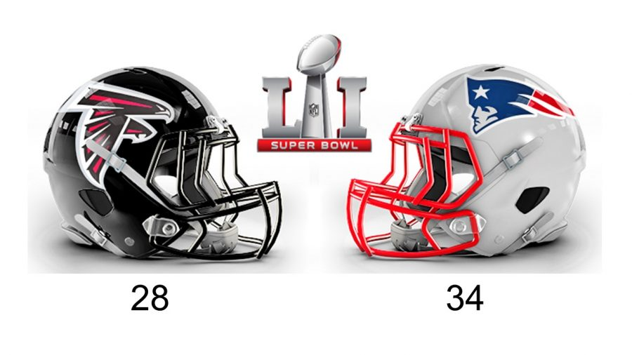 Patriots beat Falcons at Superbowl LI