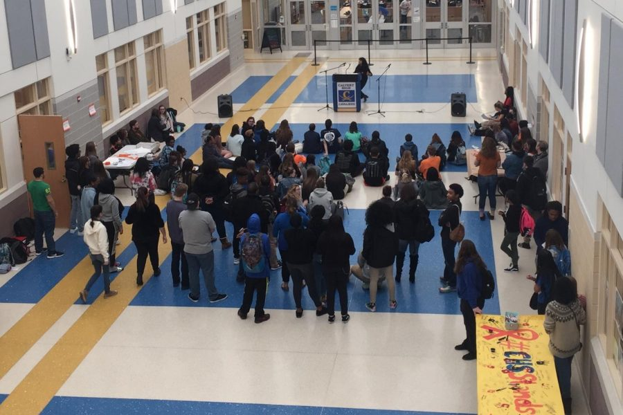 Calvert High School participates in the nation-wide walkout and #CHSStands4Change to end gun violence