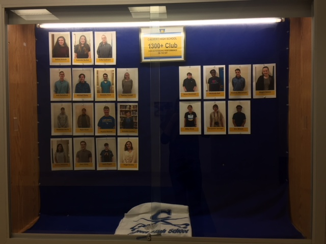 The 1300+ Club bulletin board located outside the main office